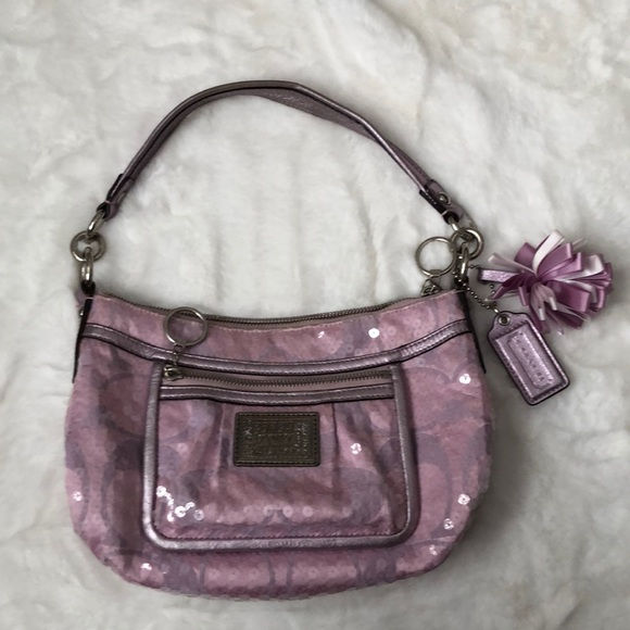 Coach Poppy shoulder bag in lilac and sequins